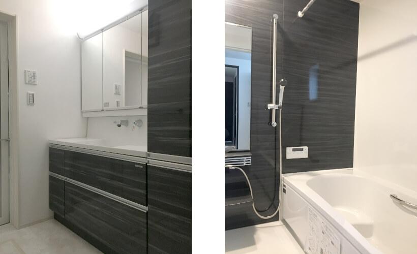 B号棟洗面台とお風呂場